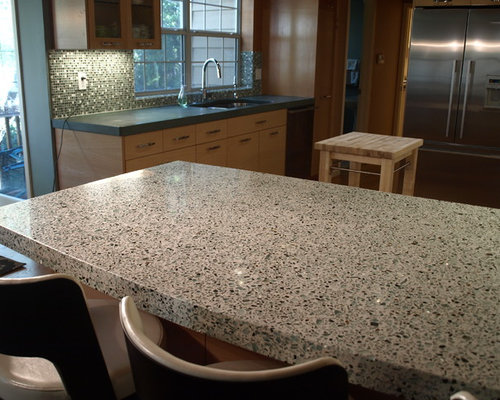 recycled glass countertops cost houzz. Black Bedroom Furniture Sets. Home Design Ideas