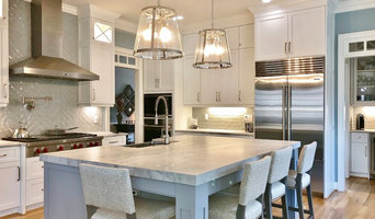 Gorgeous gray and white Kitchen in Apex