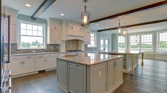 Gorgeous White Fine Line Kitchen With Islands