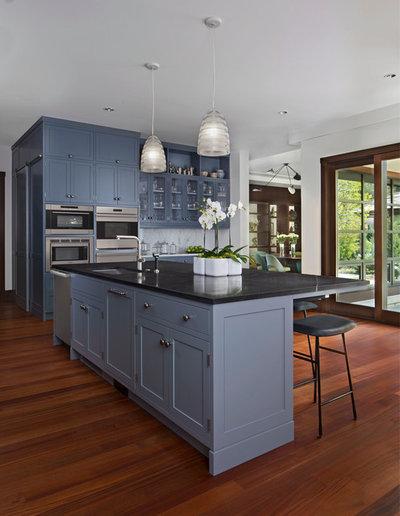 Transitional Kitchen by Saroki Architecture