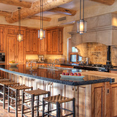 Rustic Kitchen by Interiors by Design, Ltd.