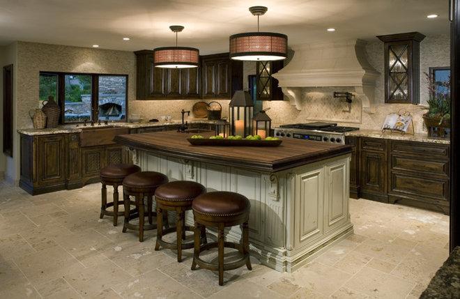 Mediterranean Kitchen by Venture One Design, Inc.