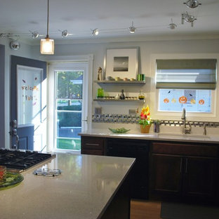 Incroyable Transitional Eat In Kitchen Designs   Example Of A Transitional L Shaped  Eat