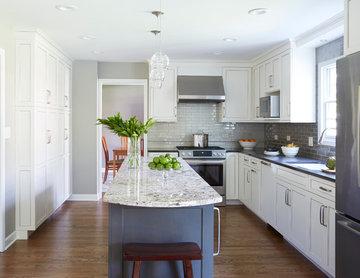 Graceful Gray Kitchen Remodel - Glen Ellyn, IL