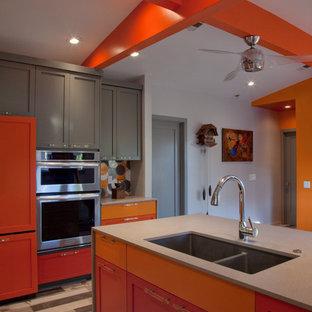 Gradient of Orange Kitchen