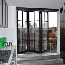 Contemporary Kitchen by Steel Windows and Doors USA