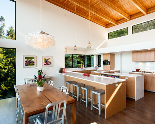 Kitchen with Light Wood Cabinets Design Ideas & Remodel Pictures   Houzz