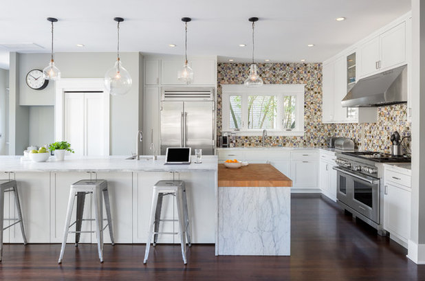 Transitional Kitchen by Model Remodel