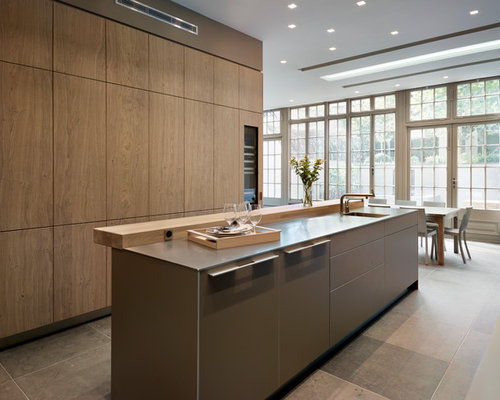 Grand dining for Bulthaup kitchen cabinets