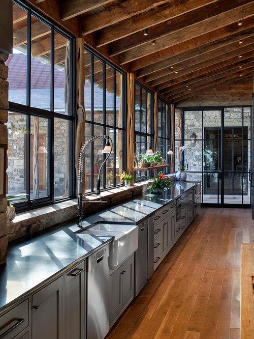 House Kitchen Design: Lots Of Kitchen Windows Home Design Ideas, Pictures