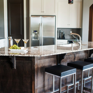 Contemporary kitchen remodeling - Example of a trendy kitchen design in New Orleans