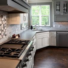 Transitional Kitchen by Hard Topix LLC