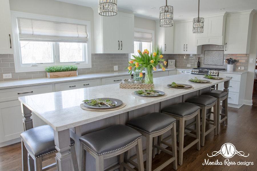 Grand White Kitchen