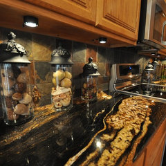 eclectic kitchen by Supreme Surface, Inc.