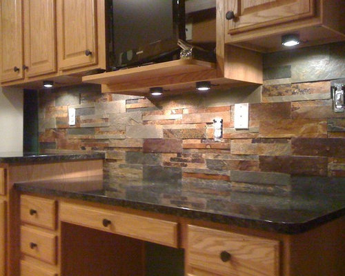 Slate Tile Backsplash | Houzz