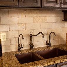 Traditional Kitchen by Bridgewater Marble & Granite LLC