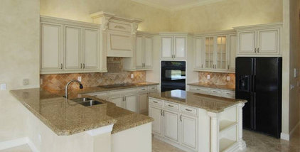 traditional kitchen granite