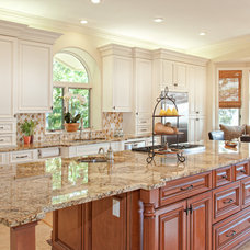 Traditional Kitchen by Real Stone and Granite Corporation