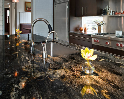 Granite kitchen countertop houzz Kitchen design newtown ct