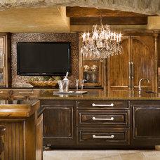 Mediterranean Kitchen by Granite Transformations Las Vegas