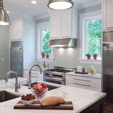 Transitional Kitchen by Unique Stone Concepts