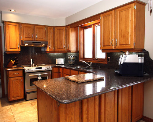 Golden Oak Cabinets Ideas, Pictures, Remodel and Decor