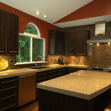 Contemporary Kitchen by Granite Transformations of St Louis
