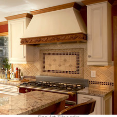 Traditional Kitchen by Fine Art Tileworks — Handmade Relief Tile