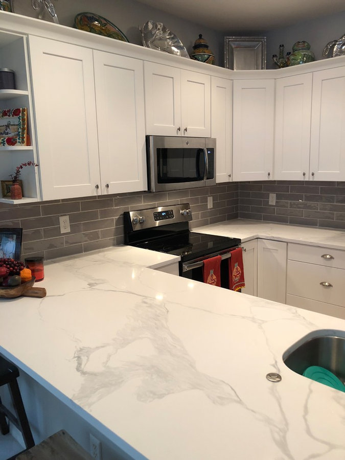 Gray and White Kitchen After