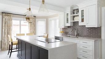 Gray and Yellow Kitchen