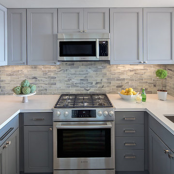 Gray Compact Kitchen | Kimball Starr