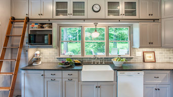 Gray Farmhouse  Kitchen