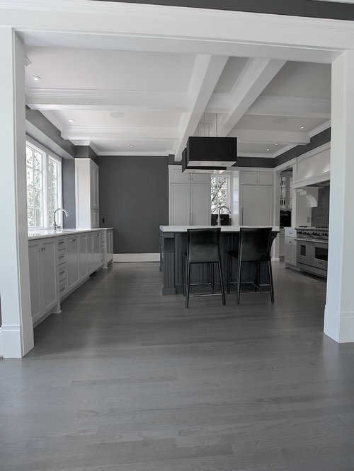 Gray Kitchen Floor Oak Cabinets