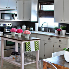 Eclectic Kitchen Gray Kitchen with White Cabinets