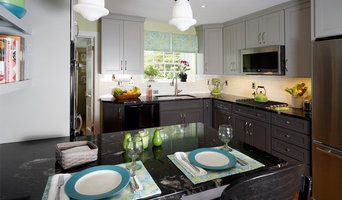 Gray on Gray transitional kitchen