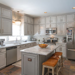 Grey Painted Cabinets | Houzz