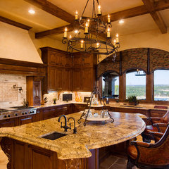 mediterranean kitchen by Jenkins Custom Homes