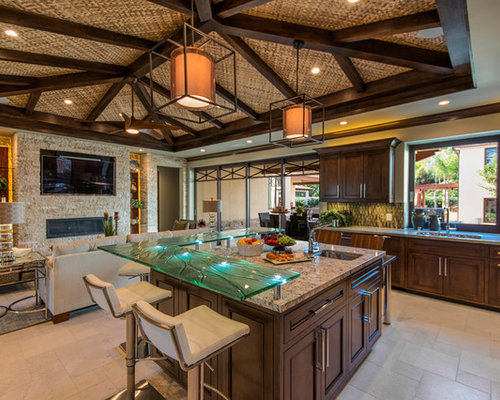 3 864 tropical kitchen design ideas remodel pictures houzz - Tropical kitchen design ...