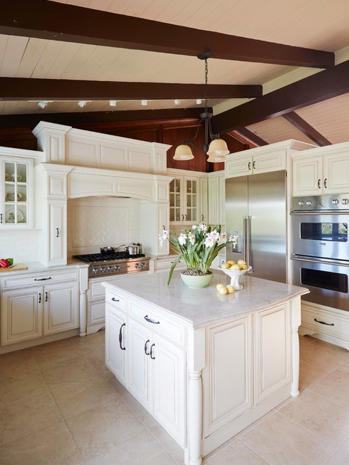 Eclectic Kitchen Design Ideas Renovations Photos With Travertine Floors