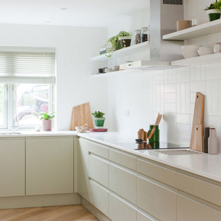 This is an example of a scandi kitchen in Cambridgeshire.