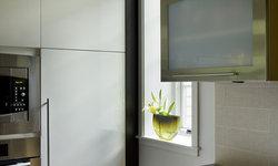 Green Gambrel Kitchen Detail