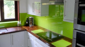 Green Glass splashback
