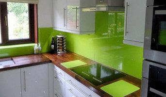 Green Glass splashback