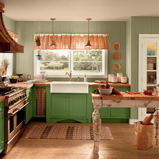 Design ideas for a rustic kitchen in Orange County.