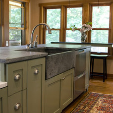 Eclectic Kitchen by Green Mountain Construction
