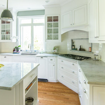 Green Quartzite Countertops and White Cabinets in Wayne PA
