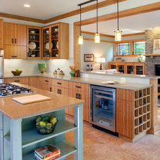 Eclectic Kitchen by Rill Architects