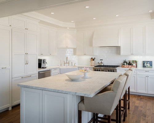 Inspiration For A Timeless Kitchen Remodel In San Francisco With A  Farmhouse Sink And Paneled Appliances