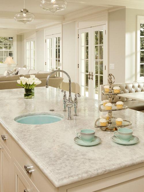 White Princess Countertop   Houzz Example of a classic kitchen design in DC Metro with quartzite countertops. Princess Design Kitchens. Home Design Ideas
