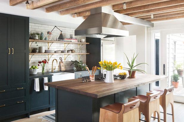 Transitional Kitchen by A.Jennison Interiors